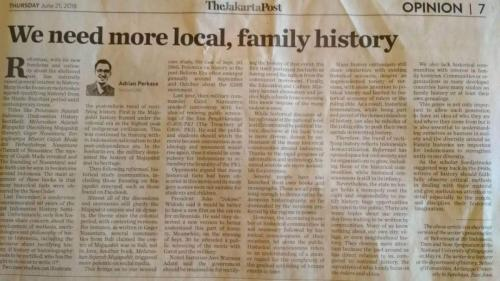 Adrian Perkasa We need more local, family history