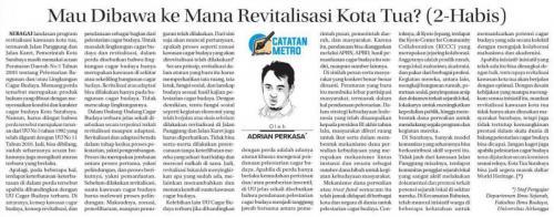 Mau Dibawa ke Mana Revitalisasi Kota Tua? (2) - Adrian Prakasa